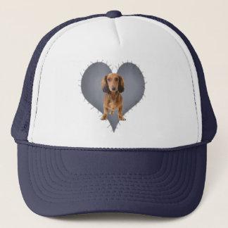 Heart Dachshund Trucker Hat