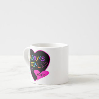 Heart Daddy's Girl T Shirts and Gifts 6 Oz Ceramic Espresso Cup
