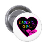 Heart Daddy's Girl T Shirts and Gifts Buttons