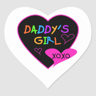 Heart Daddy's Girl T Shirts and Gifts Stickers