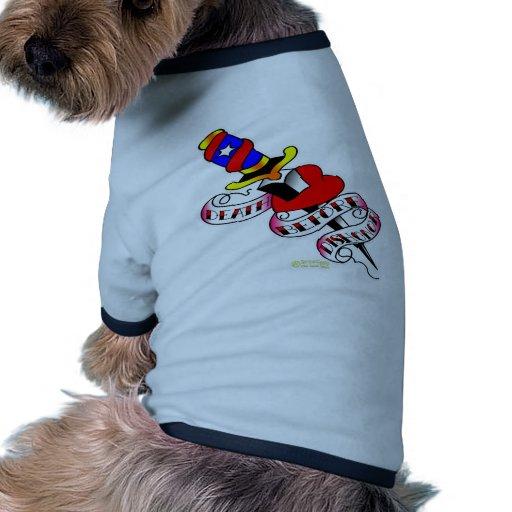 Heart & Dagger Death Before Dishonor Doggie Shirt