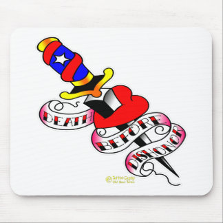 Heart & Dagger Death Before Dishonor Mouse Pad