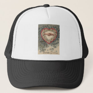 Heart Daisy Forget Me Not Holding Hands Floral Trucker Hat