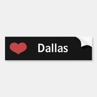 Heart Dallas Bumper Sticker