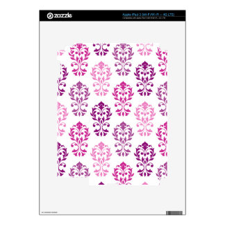 Heart Damask Art Ib Pinks Plums White Decal For iPad 3