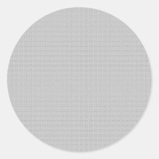 Heart Damask Set (Black And White) Classic Round Sticker