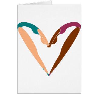 heart DANCE, LOVE dance. Card