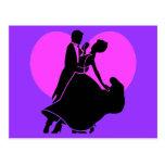 Heart dancers postcard