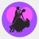 Heart dancers sticker