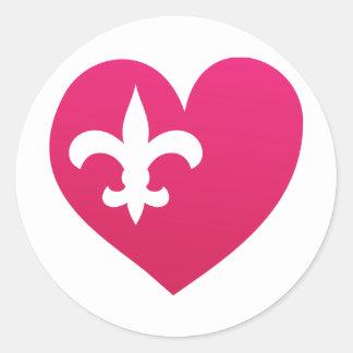Heart de Lis Classic Round Sticker