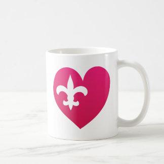 Heart de Lis Coffee Mug
