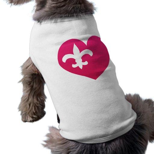 Heart de Lis Dog Tee