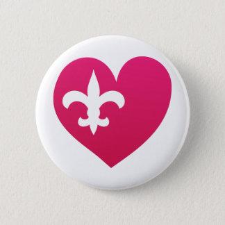 Heart de Lis Pinback Button