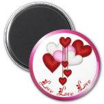 Heart Decor 2 Inch Round Magnet