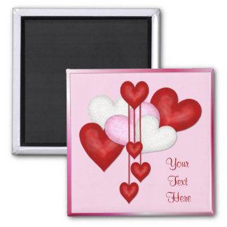 Heart Decor 2 Inch Square Magnet