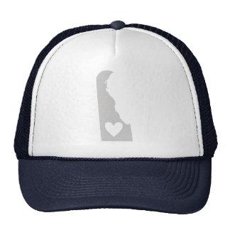Heart Delaware state silhouette Mesh Hats