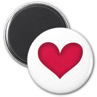 heart design 2 inch round magnet