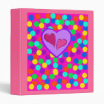 Heart design binders