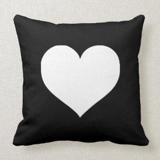 Black Heart Pillows - Decorative & Throw Pillows Zazzle