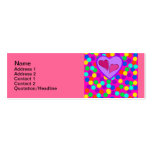 Heart design Double-Sided mini business cards (Pack of 20)