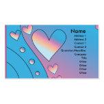 Heart Design Business Card Template