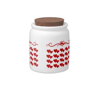 Heart Design Candy Jar
