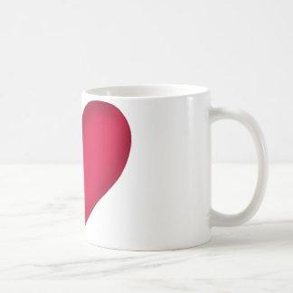 heart design coffee mug