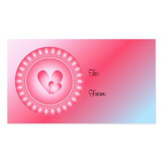 Heart Design Gift Tag Business Card