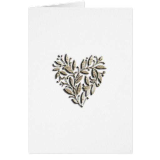 Heart design greeting card