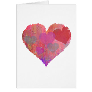 HEART DESIGN GREETING CARD cute abstract