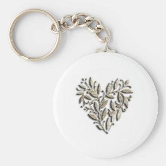 Heart design keychain