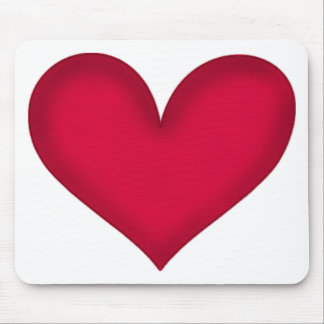 heart design mouse pad