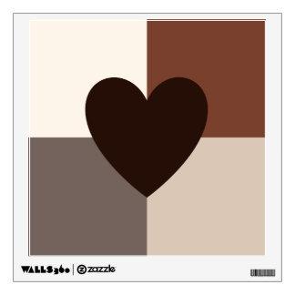 Heart Design Warm Colors Wall Sticker