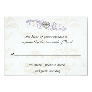Heart Diamond RSVP Card