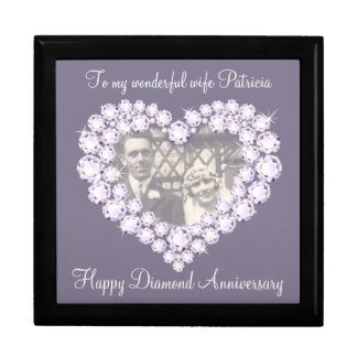 Heart diamond wedding photo wife gift box