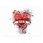 Heart Dick Post Cards