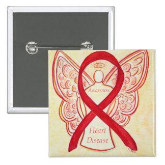 Heart Disease Awareness Angel Red Ribbon Pin