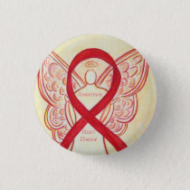 Heart Disease Awareness Angel Red Ribbon Pin