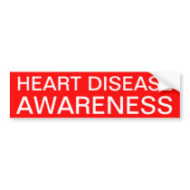 Heart Disease Awareness Bumper Sticker