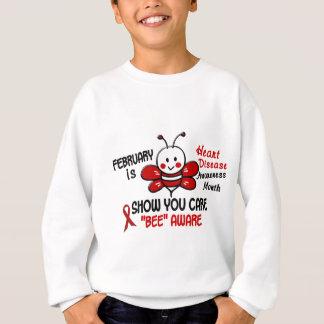 Heart Disease Awareness Month Bee 1.1 Sweatshirt