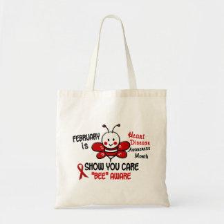 Heart Disease Awareness Month Bee 1.1 Tote Bag