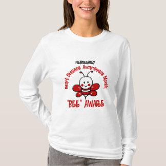 Heart Disease Awareness Month Bee 1.2 T-Shirt