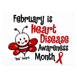 Heart Disease Awareness Month Bee 1.3 Postcard
