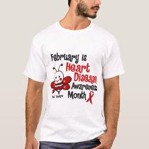 Heart Disease Awareness Month Bee 1.3 T-Shirt
