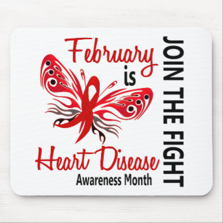 Heart Disease Awareness Month Butterfly 3.1 Mouse Pads