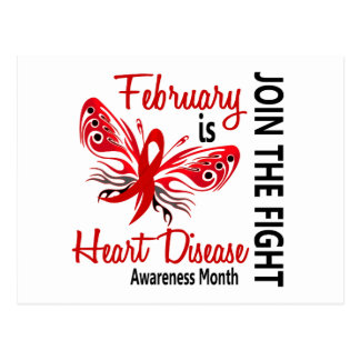 Heart Disease Awareness Month Butterfly 3.1 Postcard