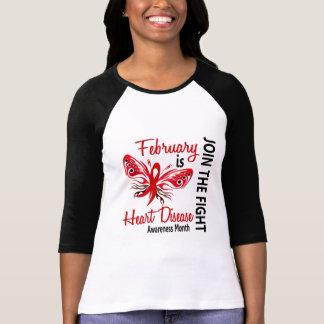 Heart Disease Awareness Month Butterfly 3.1 T-Shirt