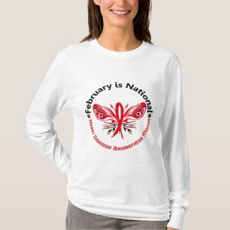 Heart Disease Awareness Month Butterfly 3.3 T-Shirt