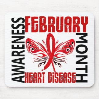 Heart Disease Awareness Month Butterfly 3.4 Mousepad