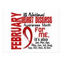 Heart Disease Awareness Month Every Month For ME Postcard
